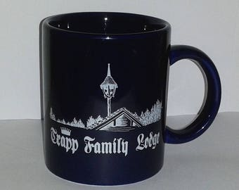 Vintage VON TRAPP FAMILY Lodge Mug ~ Sound Of Music Collectible Mug ~ Very Rare and Hard to Find