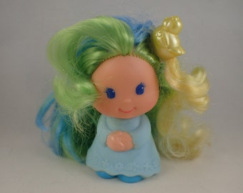 Lady LovelyLocks Dame Boucleline Perkypeek with Pixietails Yellow Bird clip for Hair / Clothes Mattel 87