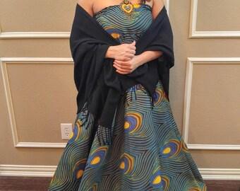 African Print dress, African maxi dress, African dress, African clothing, Ankara dress, Ankara maxi dress,  african strapless dress