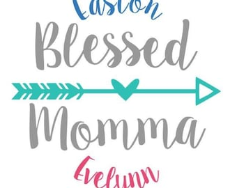 Blessed Mom Decal Etsy