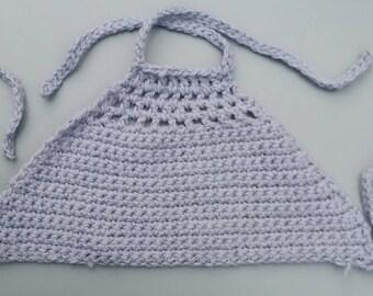 Grey crochet halter top