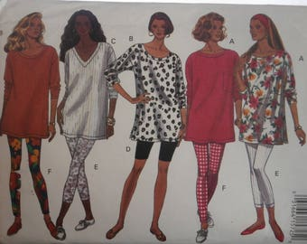 Butterick Sewing Pattern 6659 Woman's Top and Legging, size XS-S-M