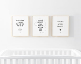 Set of 3 Letterpress Prints