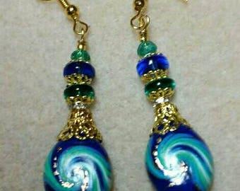 Twilight Blue Swirl Earrings