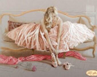 Pink Dress Ballerina Pt2 Bead Art Picture Kit
