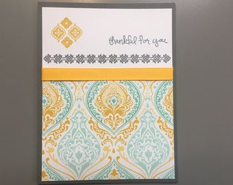 Thankful for you card, Blank greeting card, just because card, Card & Envelope
