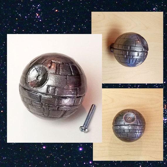 Death star star wars pull knob custom star wars home decor for Star cabinet pulls