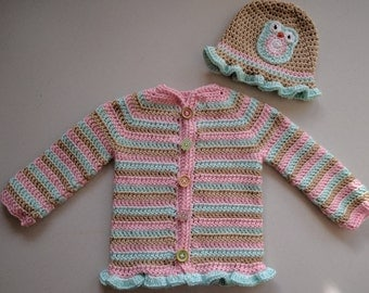 Owl Sweater and Hat Set