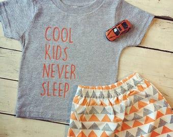 Cool Kids Never Sleep Bodysuit/ Tee