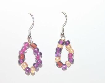 Mixed Color Handmade Hoop Earrings