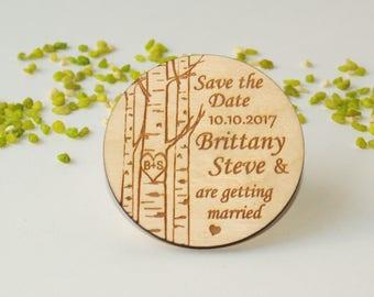 Save the date, Save the date rustic, Save the date magnet, Wooden save the date, Save the date magnet rustic, Wood save the date magnet