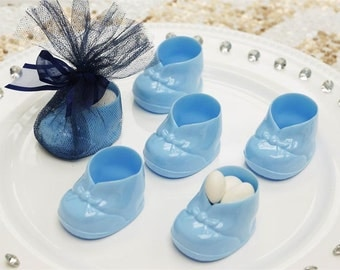 Baby Booties - BLUE - 12 pcs/ Baby Shower booties