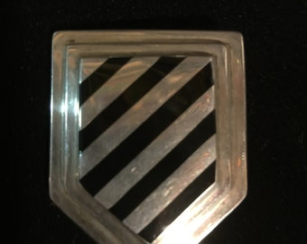 Bayanihan Sterling Silver Brooch Pin