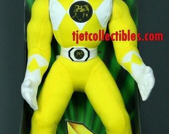 "MMPR Trini Yellow Ranger Moveable Karate Arms Plush 16"" Figure 1994"