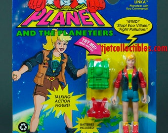 Captain Planet 1991 Series Linka Planeteer Eco Commands with Action Figure