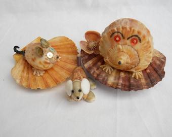 Shell Animals Trio Vintage Gorgeous