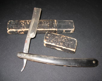 Antique Isaac Oxley Straight Razor / Extra Hollow Ground Straight Razor Made In Liverpoole