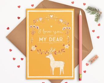I love you my dear! - postcard
