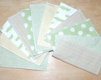 12 Up-cycled gender neutral cloth wipes