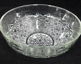French cut glass lead crystal trifle fruit bowl 20 cm diameter - wedding bowl