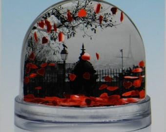 Snow globe Love Montmartre Paris photos French gift Paris gift Valentine gift Paris souvenir