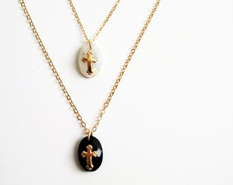 The religious necklace plated gold (gold filled) 14 k