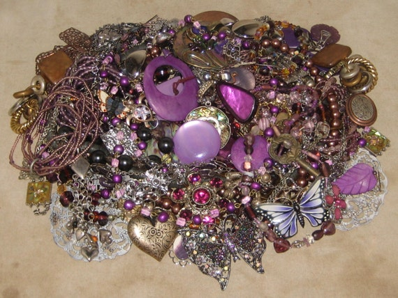 1 1 2 lbs mixed vintage to now junk jewelry lot craft repair