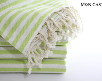Mediterranean | Light Green | Beach Towel | Bridesmaid Gift | Peshtemal | Turkish Towel | Beach Towel | Wedding Gift