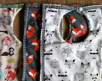 Toddler Bib. Extra large, extra absorbent. save money when buying set of 3.