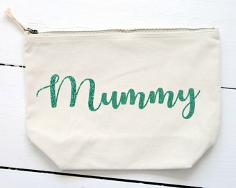 Personalised 'Mummy' Cosmetic Bag,Make Up Bag,Mummy Bag,Birthday Gift,Gift for Her,Canvas Bag,Mother's day, Mum, Mom,Mommy,Mama