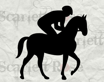 Jockey Walking Horse SVG - svg cutting file for Cricut & Silhouette - Instant Download
