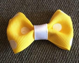 Yellow Tuxedo Hair Clip