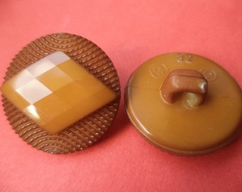 8 Brown buttons 21mm (3378) button
