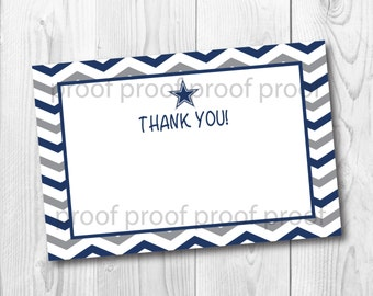 Cowboys Inspired Thank You Card Digital Download