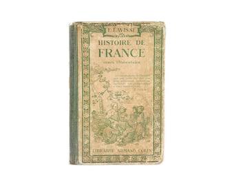 """1922 Vintage French Book """"Histoire de France"""" by Librairie A.Colin, Paris"""