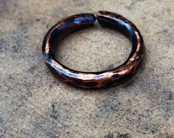 Thick Handmade Copper Ring