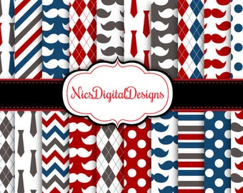 Buy 2 Get 1 Free-20 Digital Papers. Fathers Day Papers 1 (2L no 4) for Personal Use and Small Commercial Use Scrapbooking