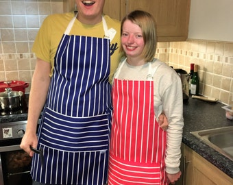 BBQ Apron ,Red Stripe BBQ, Chefs apron 'Red stripe' part of our 'Premium Chefs' range