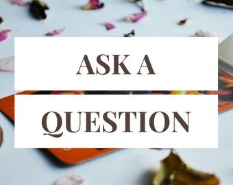 Ask a Question -- 1 Card Tarot Reading -- Photo of Spread Included