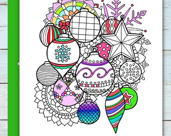 Printable Christmas Ornaments coloring page