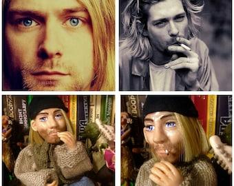 Collectible portrait doll of Kurt Cobain