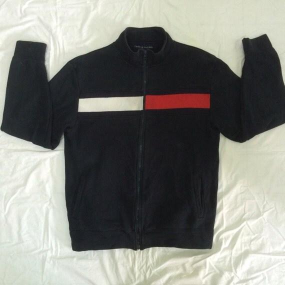 Vintage tommy hilfiger sweater jacket big logo tommy embroidered