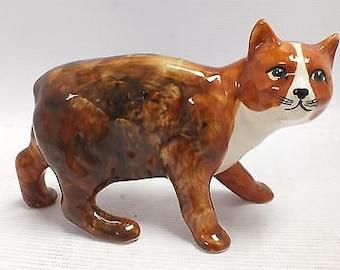 Vintage RUSHTON Art Studio Pottery Manx Cat Figure from the Isle Of Man