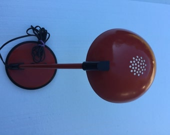 RED DESK LAMP vintage