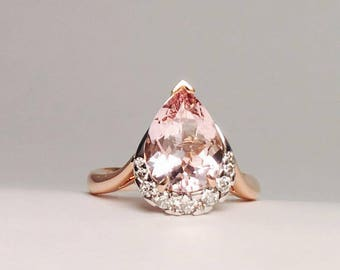 Morganite and Diamond