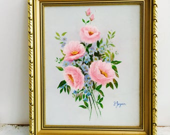 Vintage so pretty Original Painting bright and happy