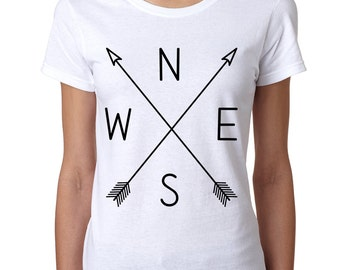 Compass arrows Women's Tee Shirt NWSE Graphic Tee