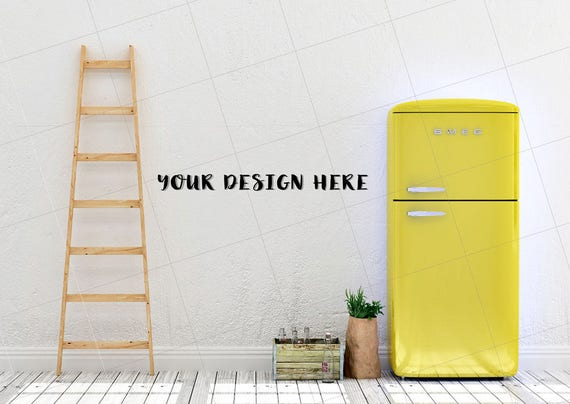 Blank Kitchen Wall kitchen mock up blank wall photography styled stock