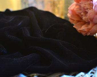 Black velvet fabric I Black velvet I Bohemian fabric I Upholstery fabric I Upholstery I  Vintage fabric I Velvet fabric I Velvet I Sewing