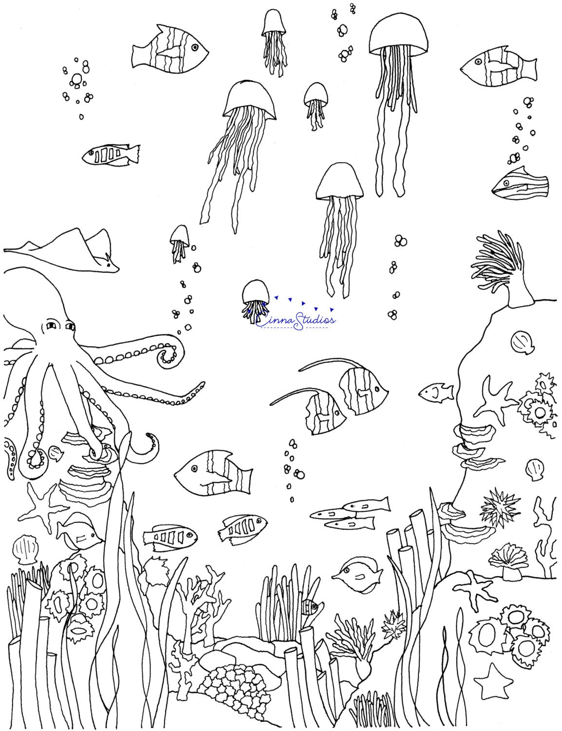 ocean i coloring page coloring download printable page